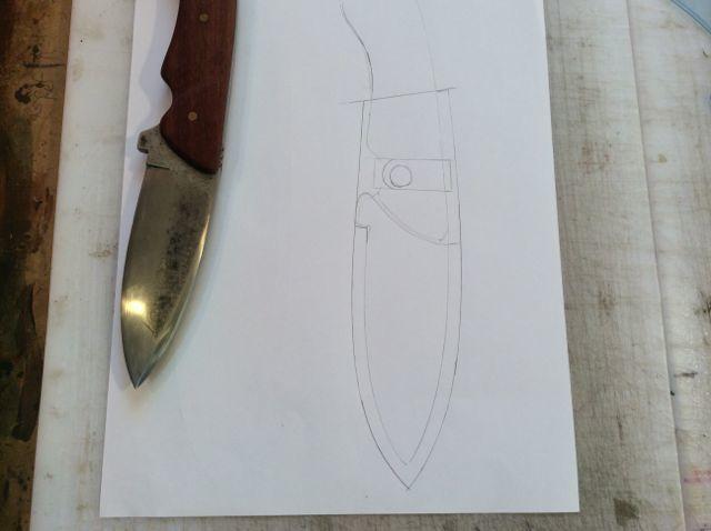 Кованый нож своими руками и ножны из кожи