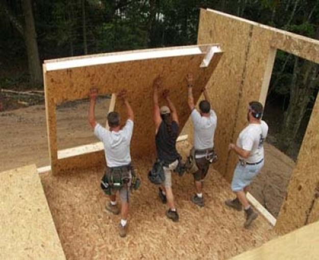 Дачный дом из СИП панелей своими руками