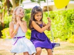 Детские качели дома своими руками