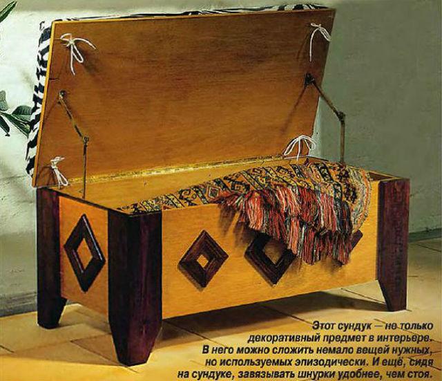 Старинный сундук из бруса своими руками