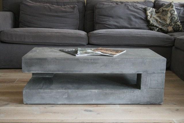 Мощный стол с бетонной столешницей своими руками