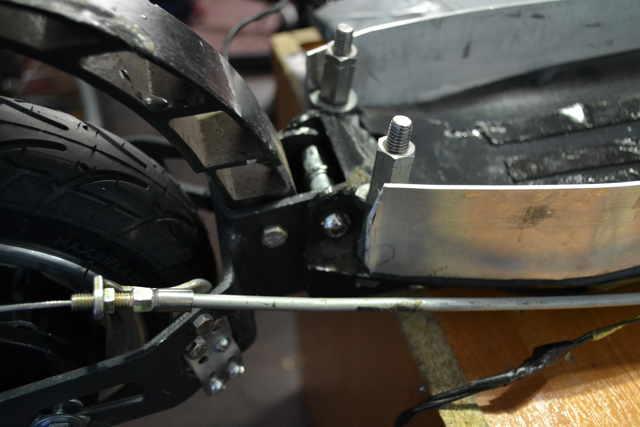 Самокат на основе аккумуляторной болгарки своими руками