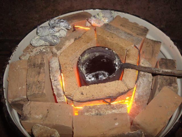 Плавильная печь из баллона своими руками