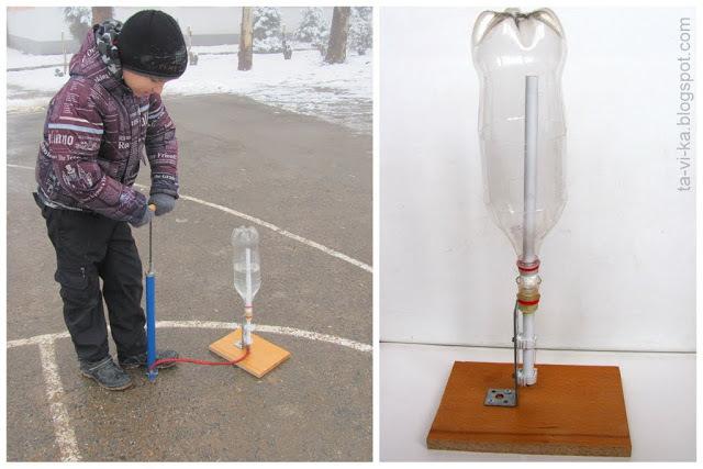 Водяная ракета с двойным воздушным баком и парашютом своими руками