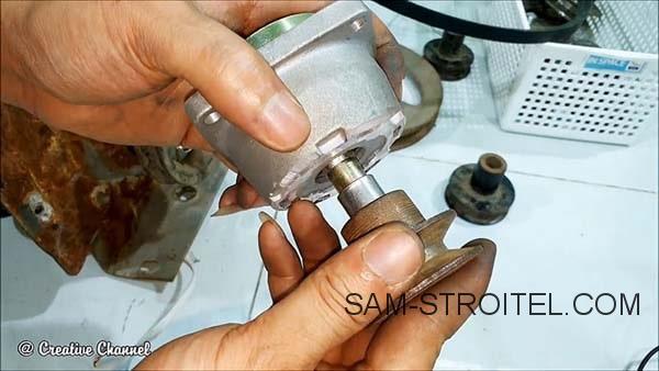 Веткорез из бензотриммера своими руками
