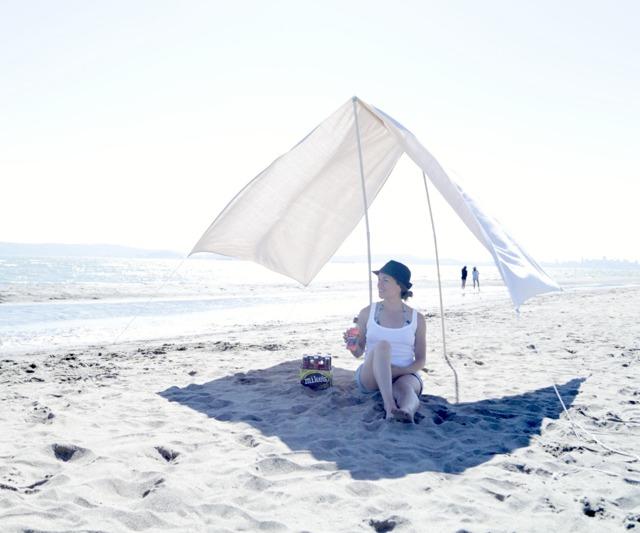 Пляжный навес от солнца своими руками