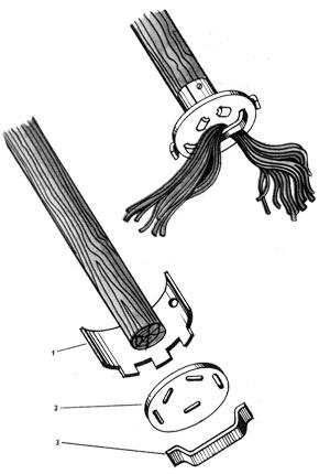 Огромный циркуль из швабры своими руками