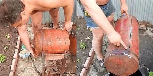 Коптильня из газового баллона своими руками