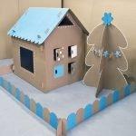 Дом из картона для детских игр своими руками