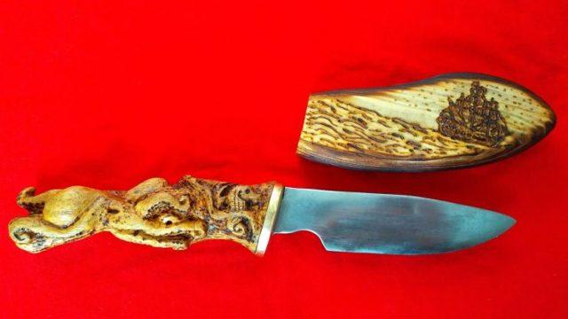 Рукоять  из двух пород дерева  для ножа своими руками