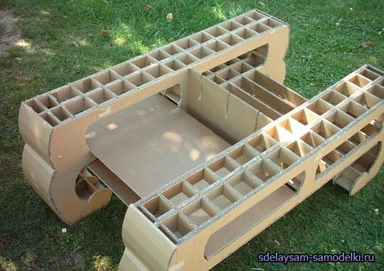 Раскладной стол из картона своими руками
