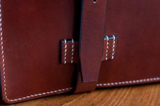 Кожаный портфель своими руками