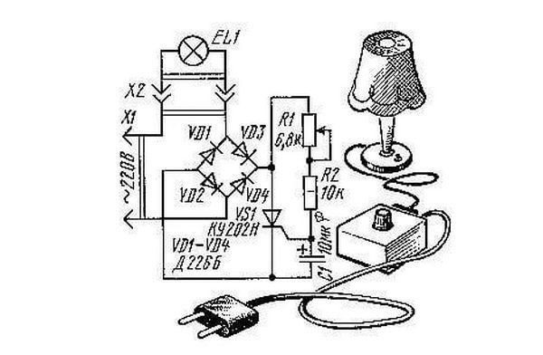 Схема плавного включения лампы накаливания своими руками