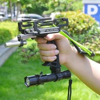 Мощная рогатка для стрел своими руками