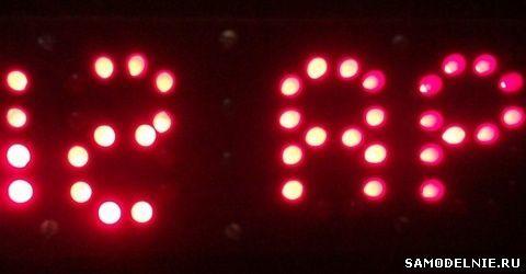 Светодиодные часы своими руками