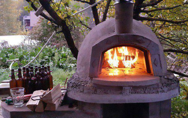 Помпейская печь для дачи своими руками
