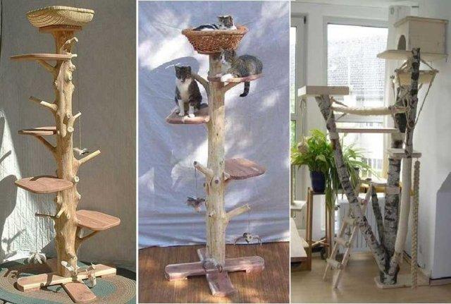 Домик - игровой комплекс для кошки своими руками