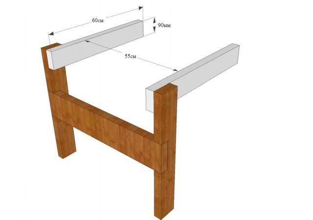 Уютное деревянное садовое кресло своими руками