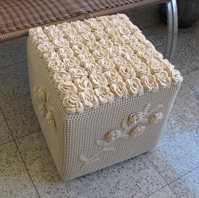 Пуфик-кубик своими руками