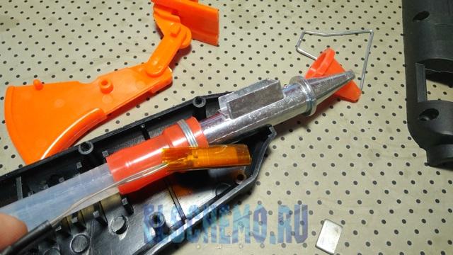 Клеевой пистолет на аккумуляторе своими руками