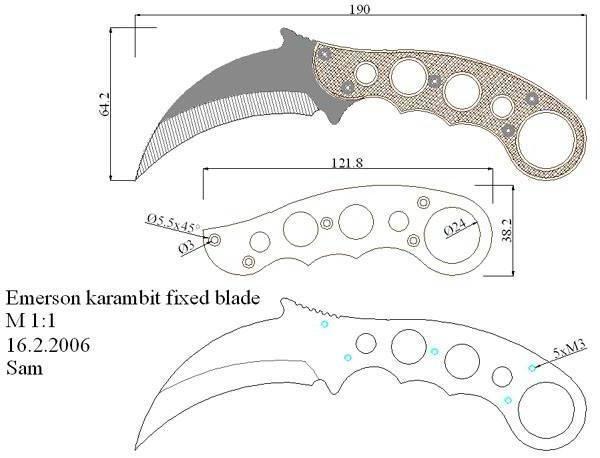 Нож керамбит своими руками