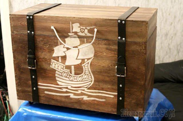 Пиратский сундук из досок своими руками