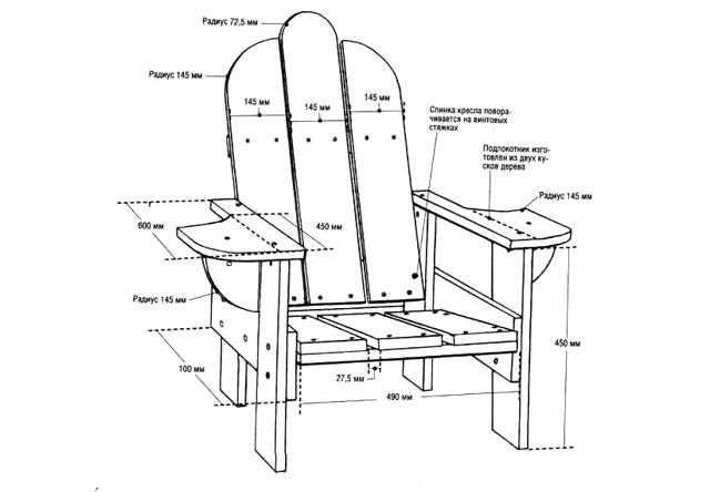 Кресло-карт своими руками