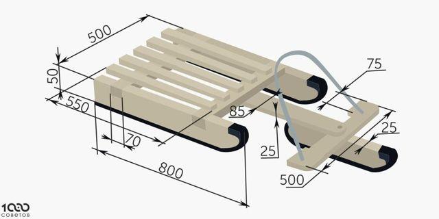 Как сделать деревянные санки своими руками