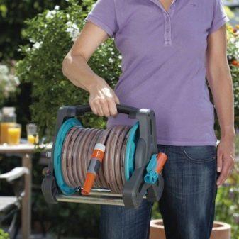 Барабан для садового шланга своими руками