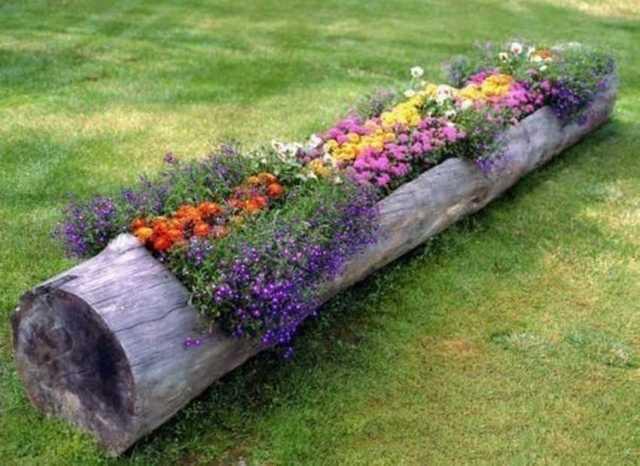 Горшки для цветов из древесины акации и пробирок своими руками