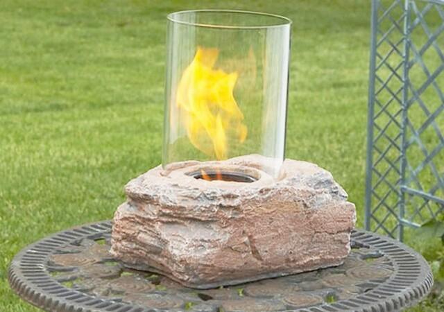 Тумба для газового камина из вишни и бетона своими руками