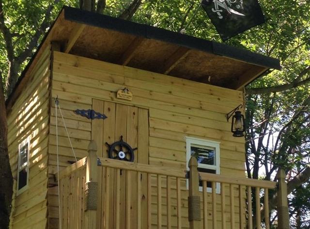 Простой домик на дереве своими руками