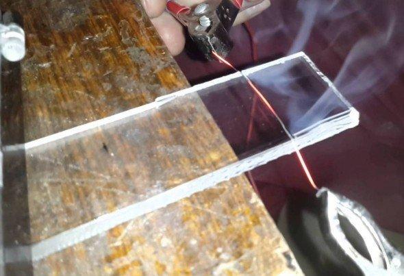Делаем огненный нож для резки пластмассы своими руками