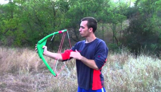 Как сделать лук из ПВХ труб своими руками!