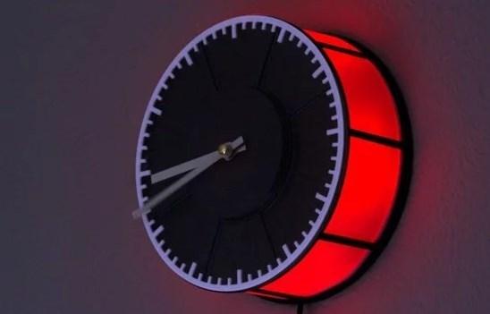 3d часы с подсветкой своими руками