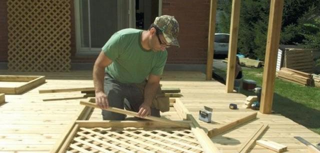 Делаем своими руками деревянную декоративную решетку