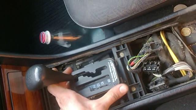 Ручка переключения передач с подсветкой своими руками