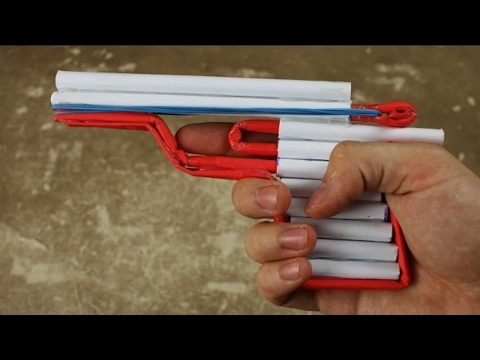 Как сделать стреляющий веб шутер для офисных войн из бумаги своими руками!