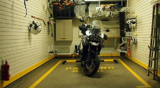 Гараж-ракушка для мотоцикла своими руками
