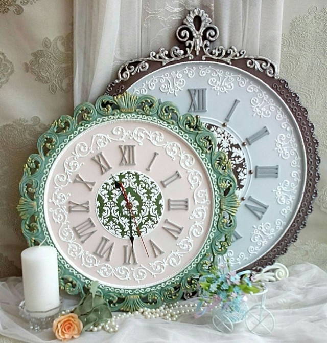 Оригинальные настенные часы своими руками