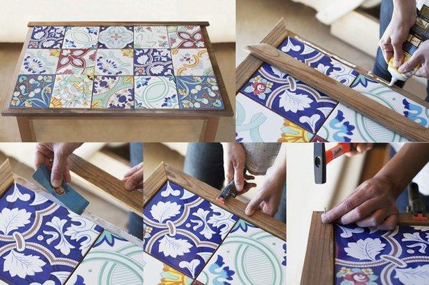 Кофейный столик со столешницей из керамической плитки своими руками