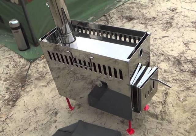 Портативная печка на дровах своими руками