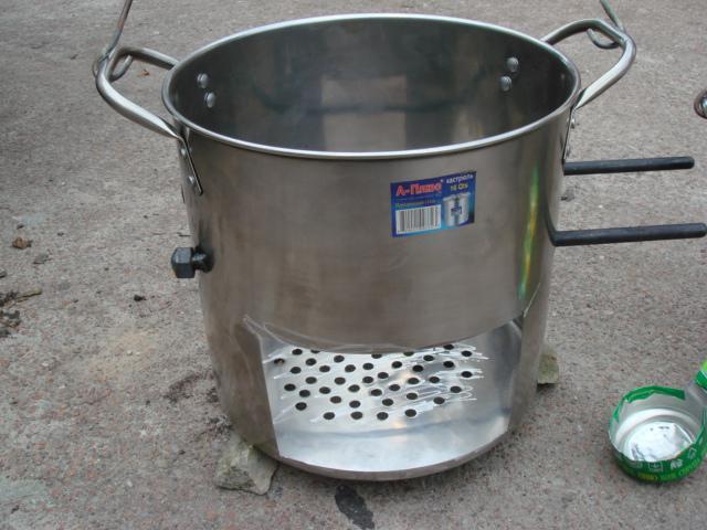 Лёгкая походная печка своими руками