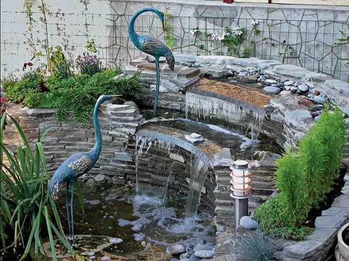 Делаем фонтан на даче своими руками