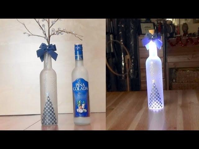 Сделай сам светящуюся новогоднюю бутылку своими руками