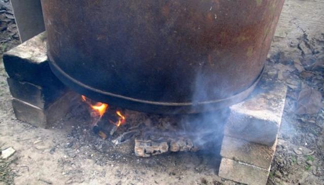 Коптильня горячего копчения из бочки своими руками
