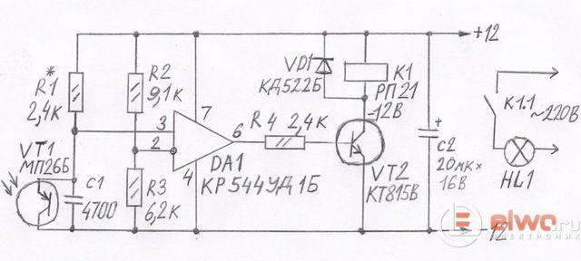 Фототранзистор своими руками из МП 42