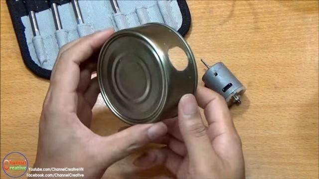 Мощная воздуходувка из консервных банок своими руками