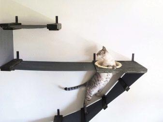 Четырехэтажный игровой кото-комплекс с двумя домиками своими руками