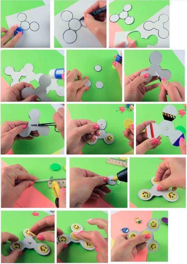 Как сделать светящийся спиннер своими руками